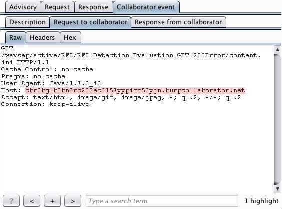 利用Burp Collaborator检测带内/外攻击-JE2Se ' Blog