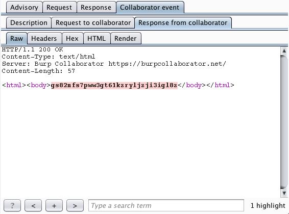 利用Burp Collaborator检测带内/外攻击